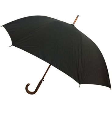 London Fog Umbrellas Auto Stick Umbrella - Black