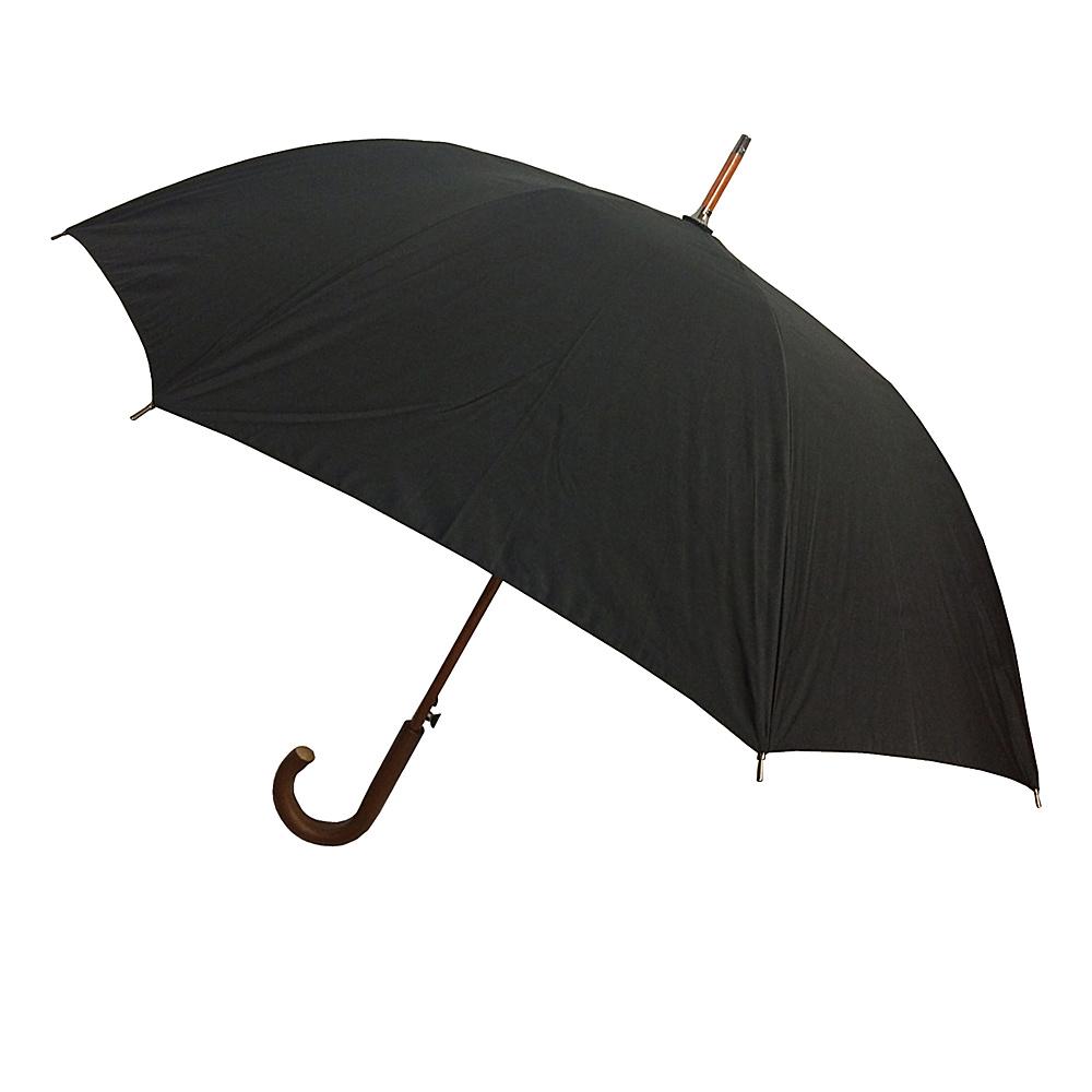London Fog Umbrellas Auto Stick Umbrella - Black - Travel Accessories, Umbrellas and Rain Gear