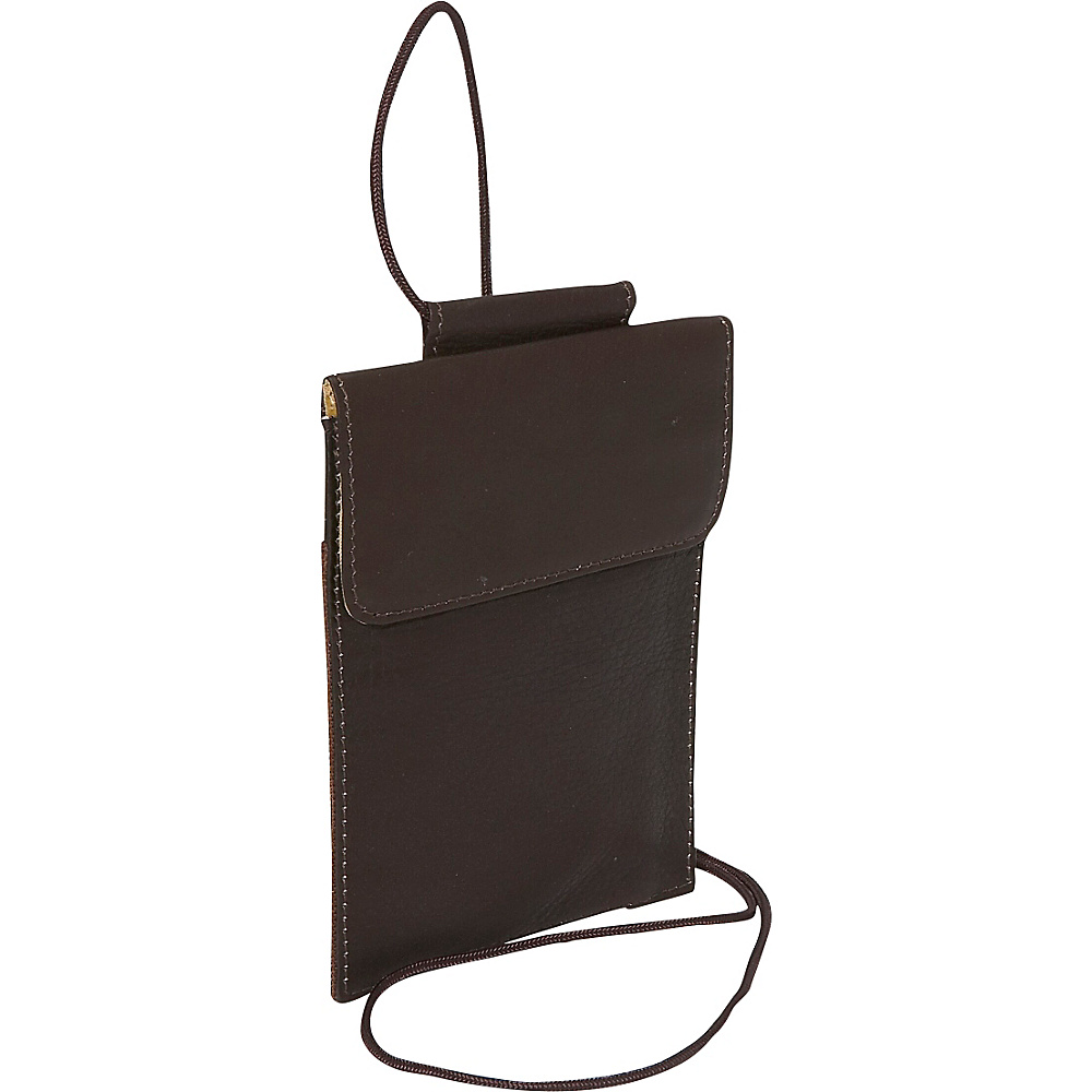 Piel Hanging Passport Holder Chocolate - Piel Travel Wallets - Travel Accessories, Travel Wallets
