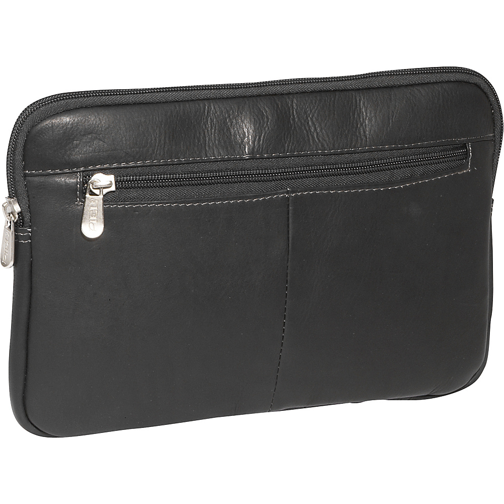Piel Mini Zip Laptop Sleeve Black