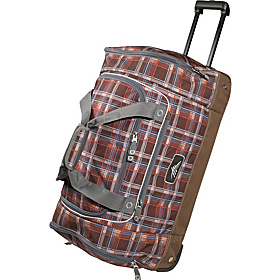 28'' Wheeled Duffel Mountain Plaid, Espresso