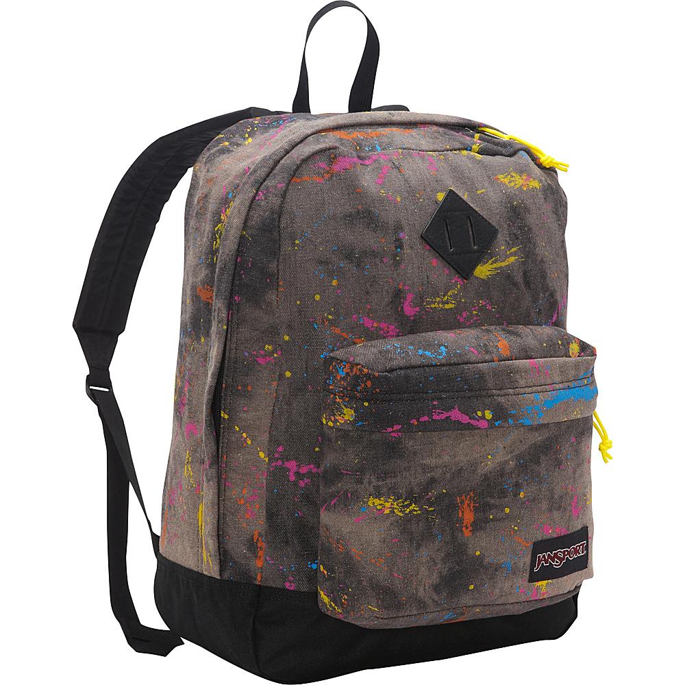 JanSport Super FX Series Backpack Black Splatter Denim - JanSport Everyday Backpacks - Backpacks, Everyday Backpacks