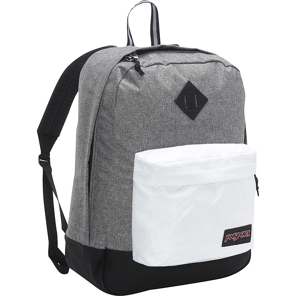 JanSport Super FX Series Backpack Black White Letterman - JanSport Everyday Backpacks - Backpacks, Everyday Backpacks