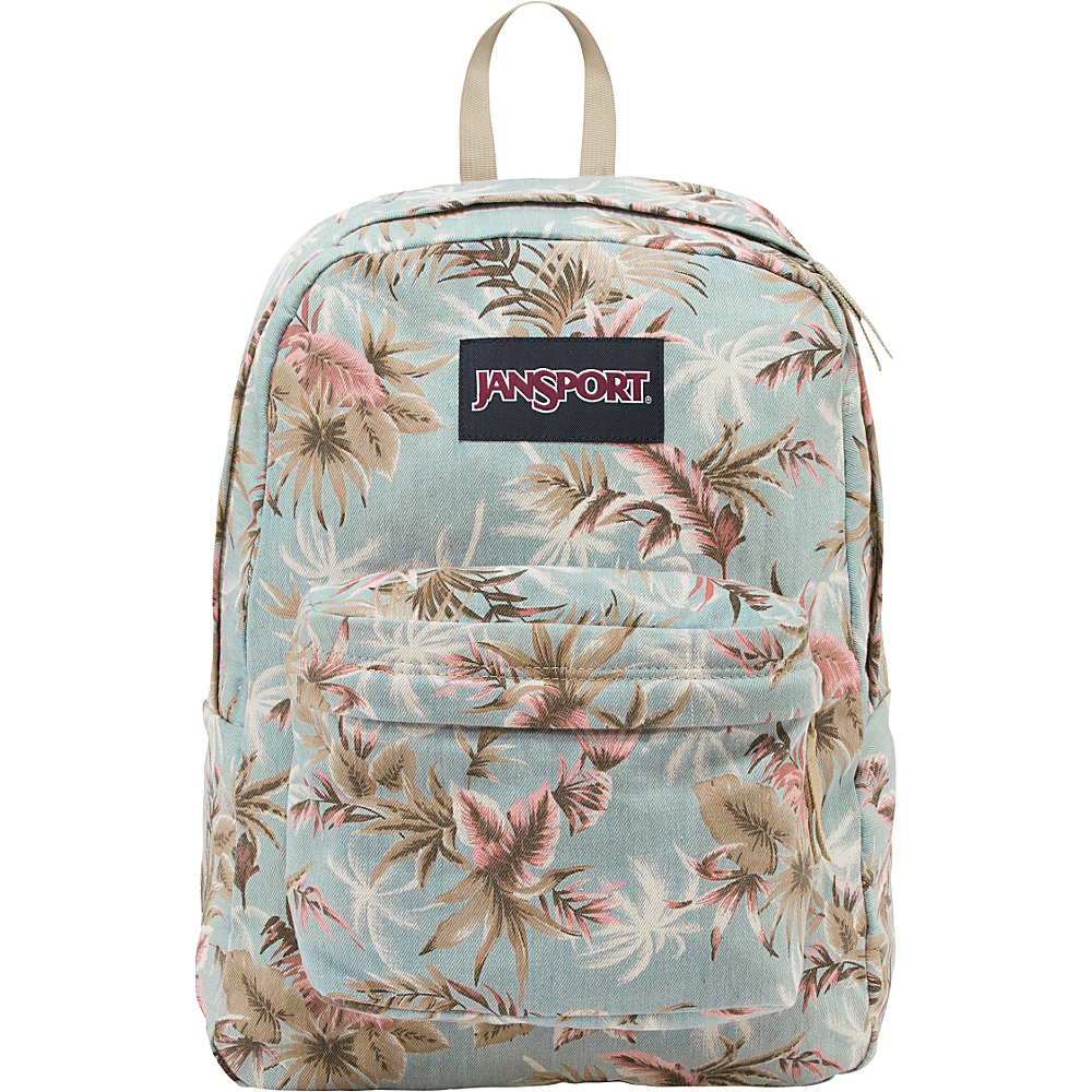 JanSport Super FX Series Backpack Multi Palm Denim - JanSport School & Day Hiking Backpacks - Backpacks, School & Day Hiking Backpacks