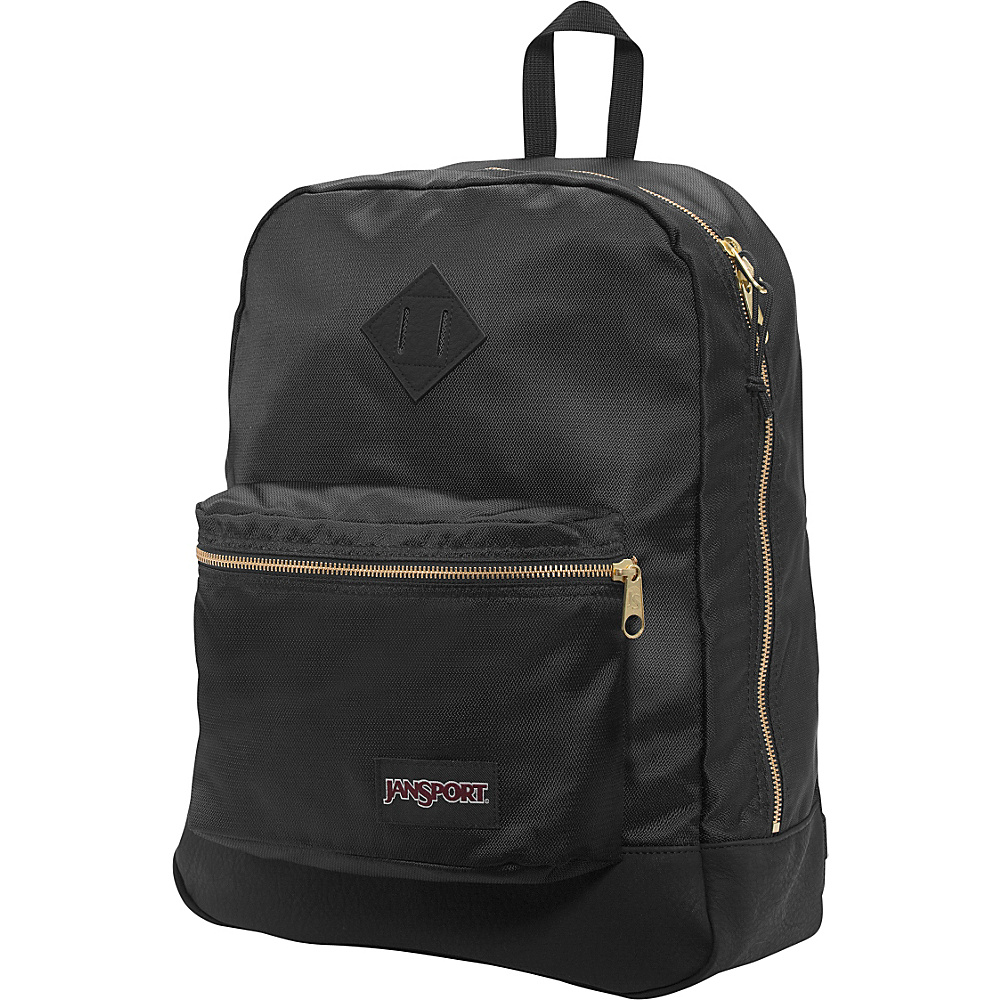 JanSport Super FX Series Backpack Black / Gold - JanSport Everyday Backpacks