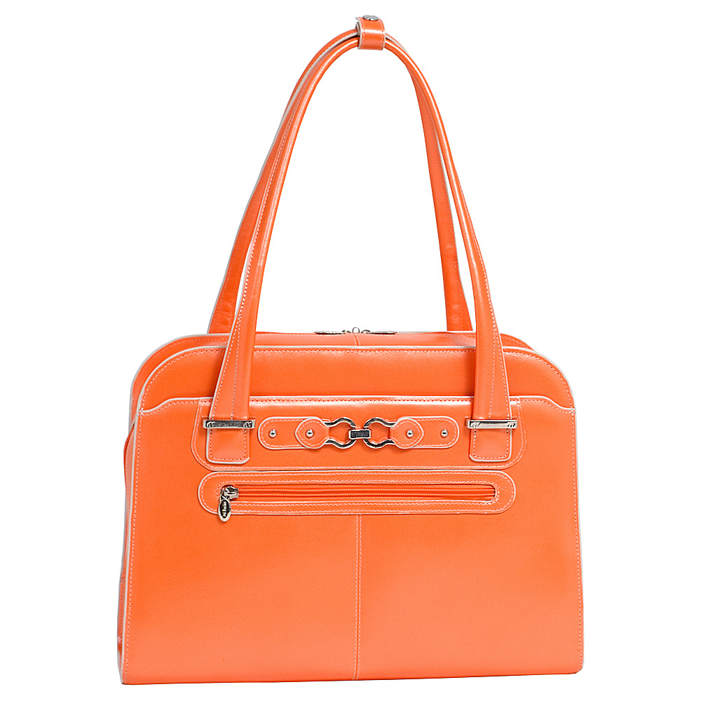McKlein USA W Series Oak Grove Laptop Tote - Orange - Work Bags & Briefcases, Women's Business Bags