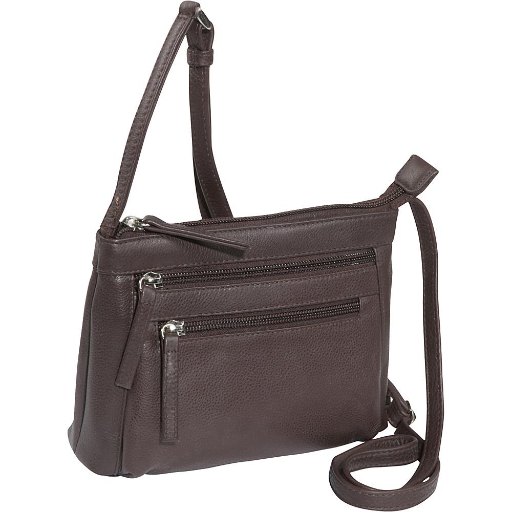 Derek Alexander Small Top Zip - Brown - Handbags, Leather Handbags