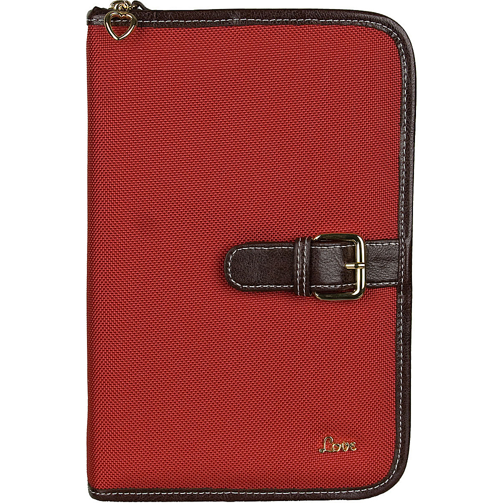 "Protec ""Love"" Small/Thinline Book/Bible Cover - Red"