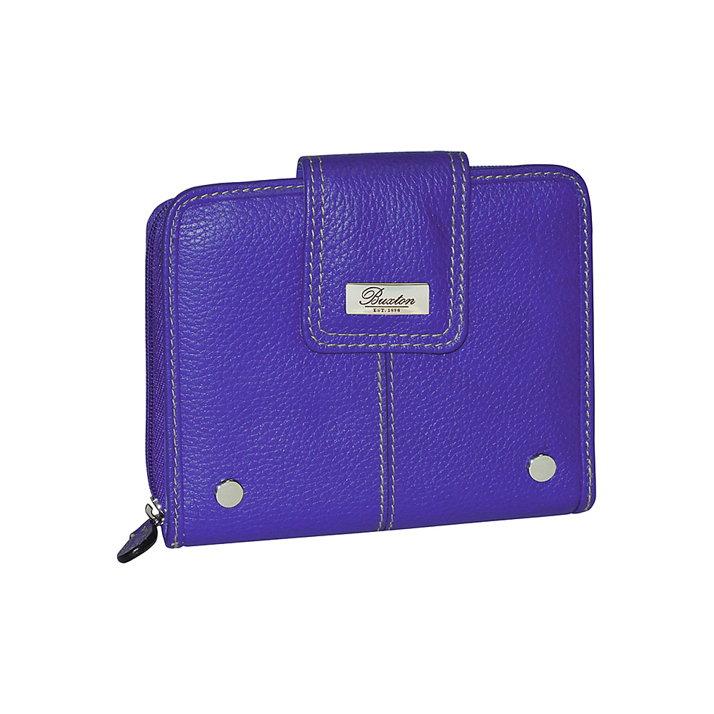 Buxton Westcott Tab Zip Around Attache Liberty Buxton Women s Wallets