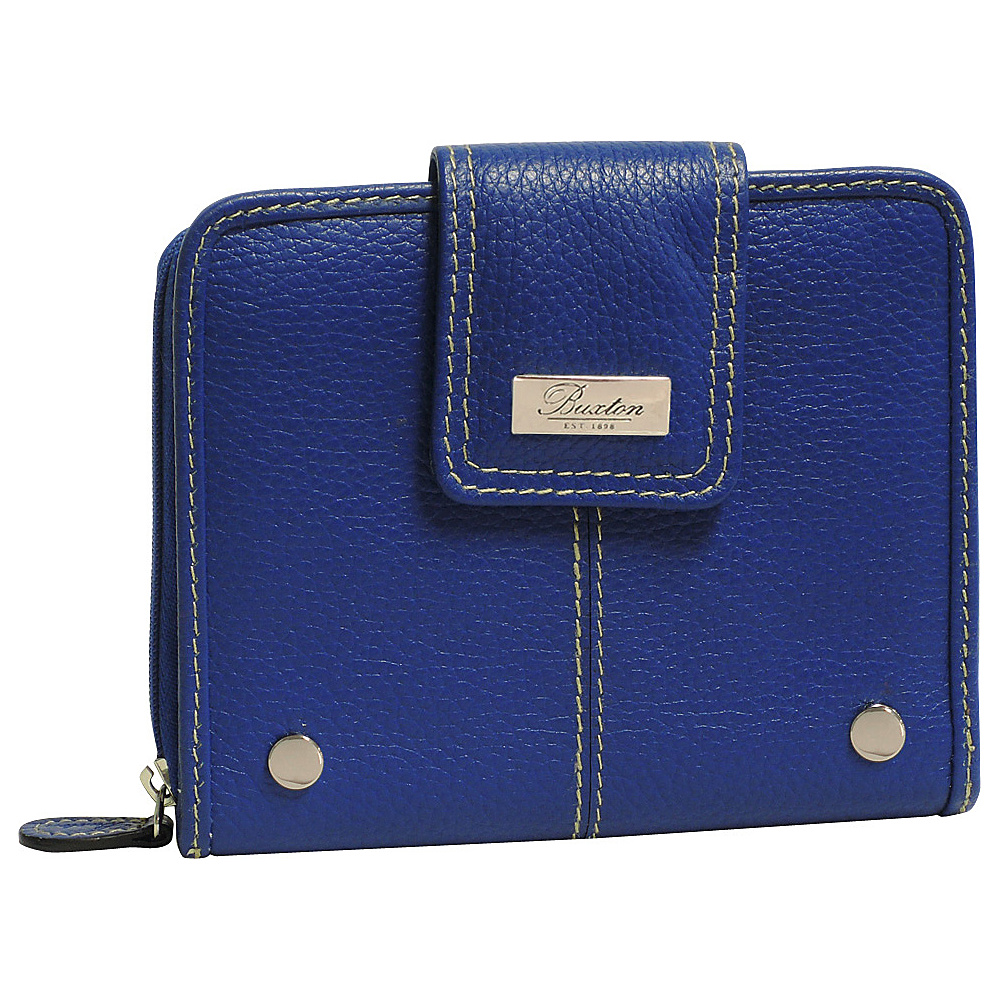 Buxton Westcott Tab Zip Around Attache Ultramarine Buxton Women s Wallets