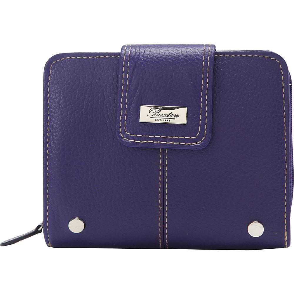 Buxton Westcott Tab Zip Around Attache Mulberry - Buxton Womens Wallets - Women's SLG, Women's Wallets