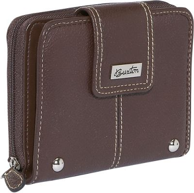 Buxton Westcott Tab Zip Around Attache - Brown 10118897