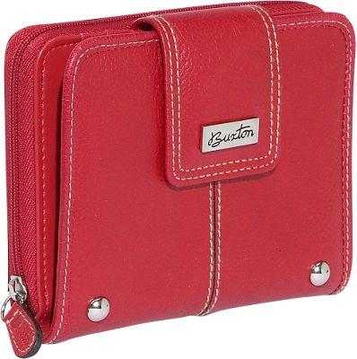 Buxton Westcott Tab Zip Around Attache - Red
