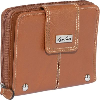 Buxton Westcott Tab Zip Around Attache - Tan