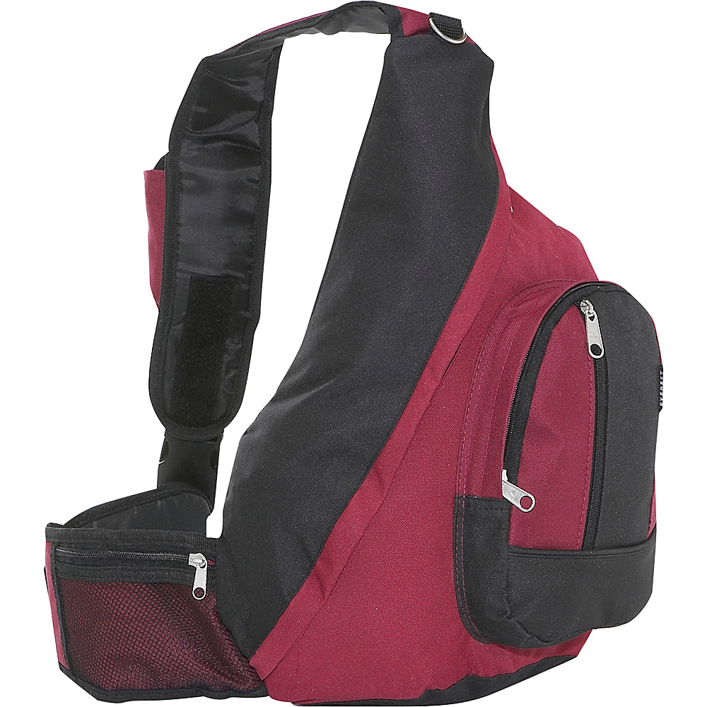 Everest Sling Backpack - Burgundy/Black - Backpacks, Slings