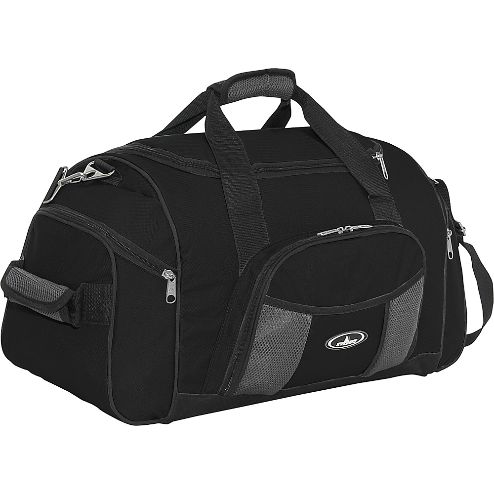 Everest 24 Deluxe Sports Duffel - Black - Duffels, Travel Duffels
