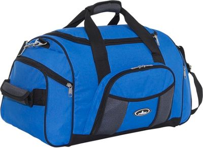 Everest 24 inch Deluxe Sports Duffel Royal Blue/Gray - Everest Travel Duffels
