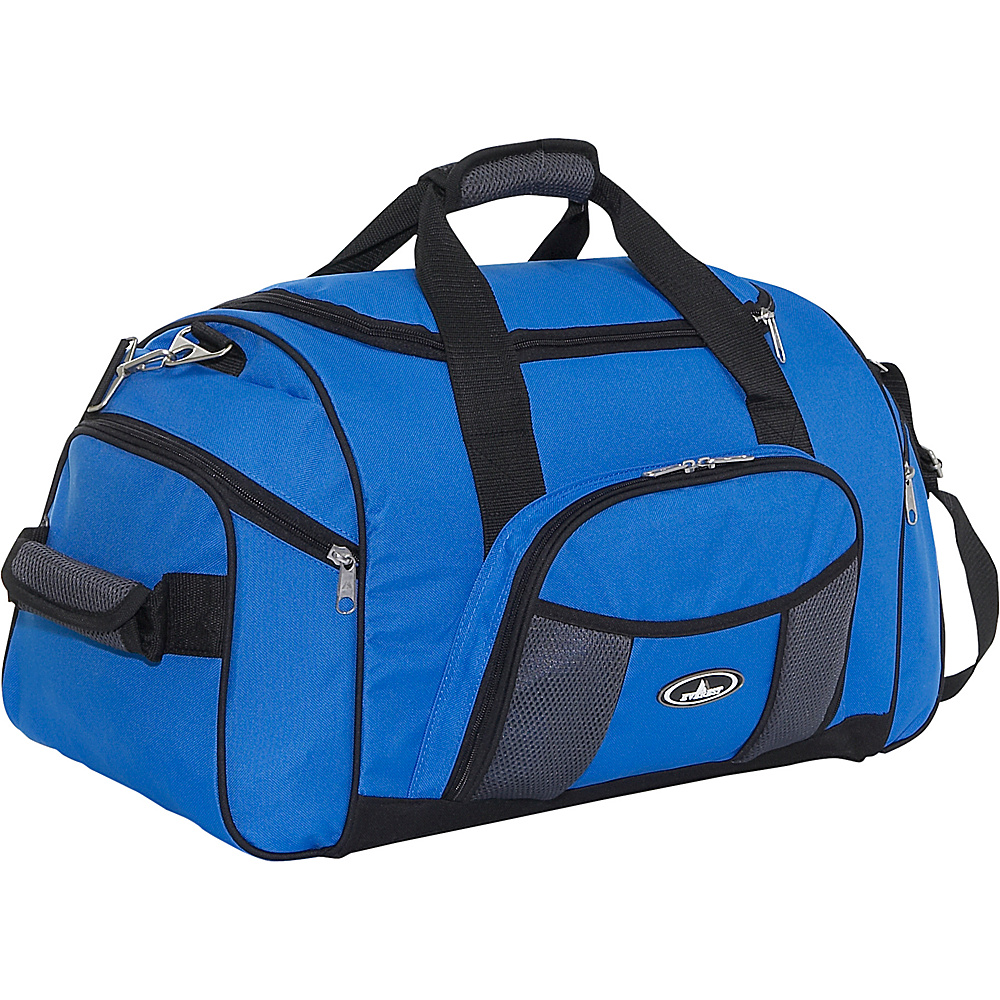 Everest 24 Deluxe Sports Duffel Royal Blue/Gray - Everest Travel Duffels - Duffels, Travel Duffels