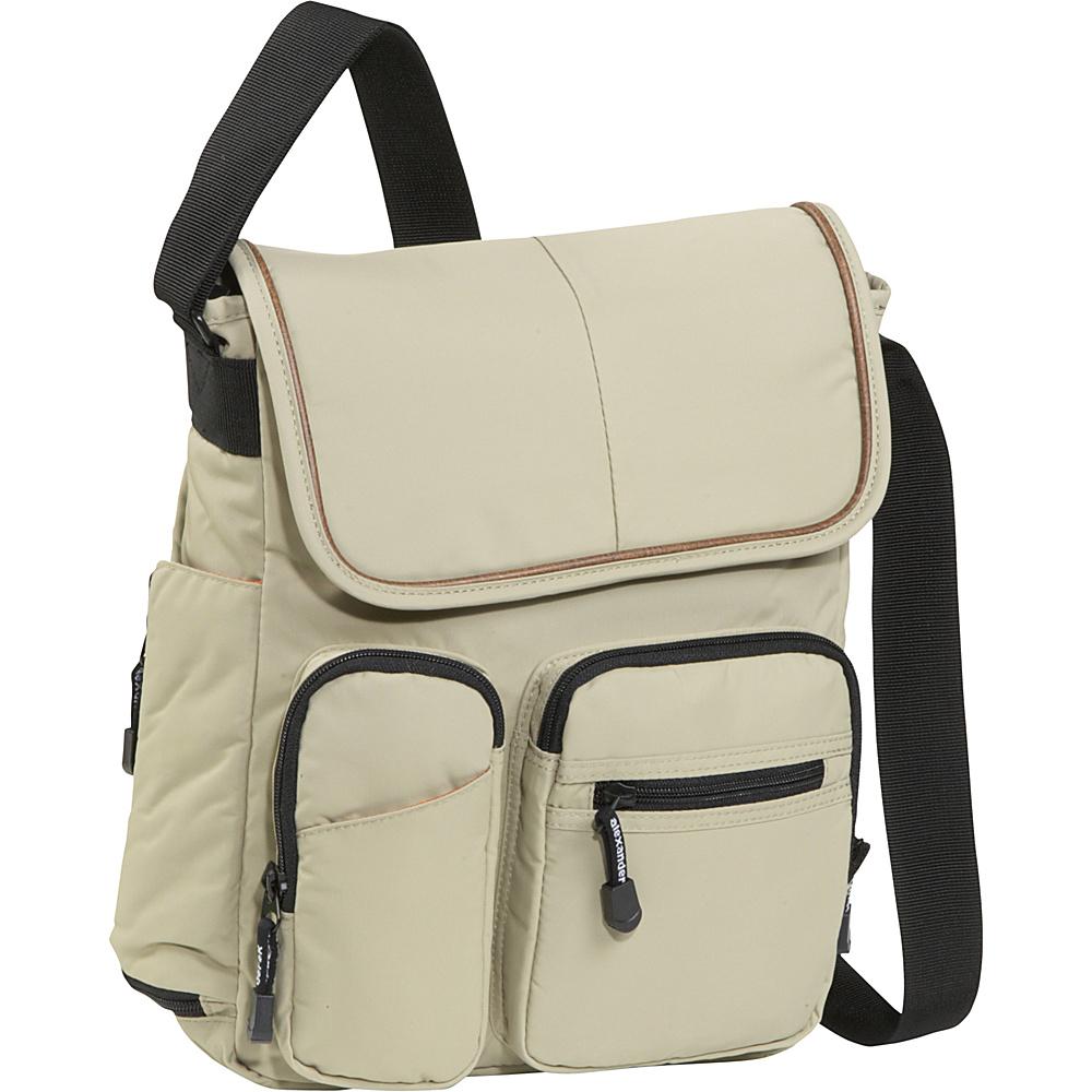Derek Alexander NS Half Flap - Tan - Handbags, Manmade Handbags