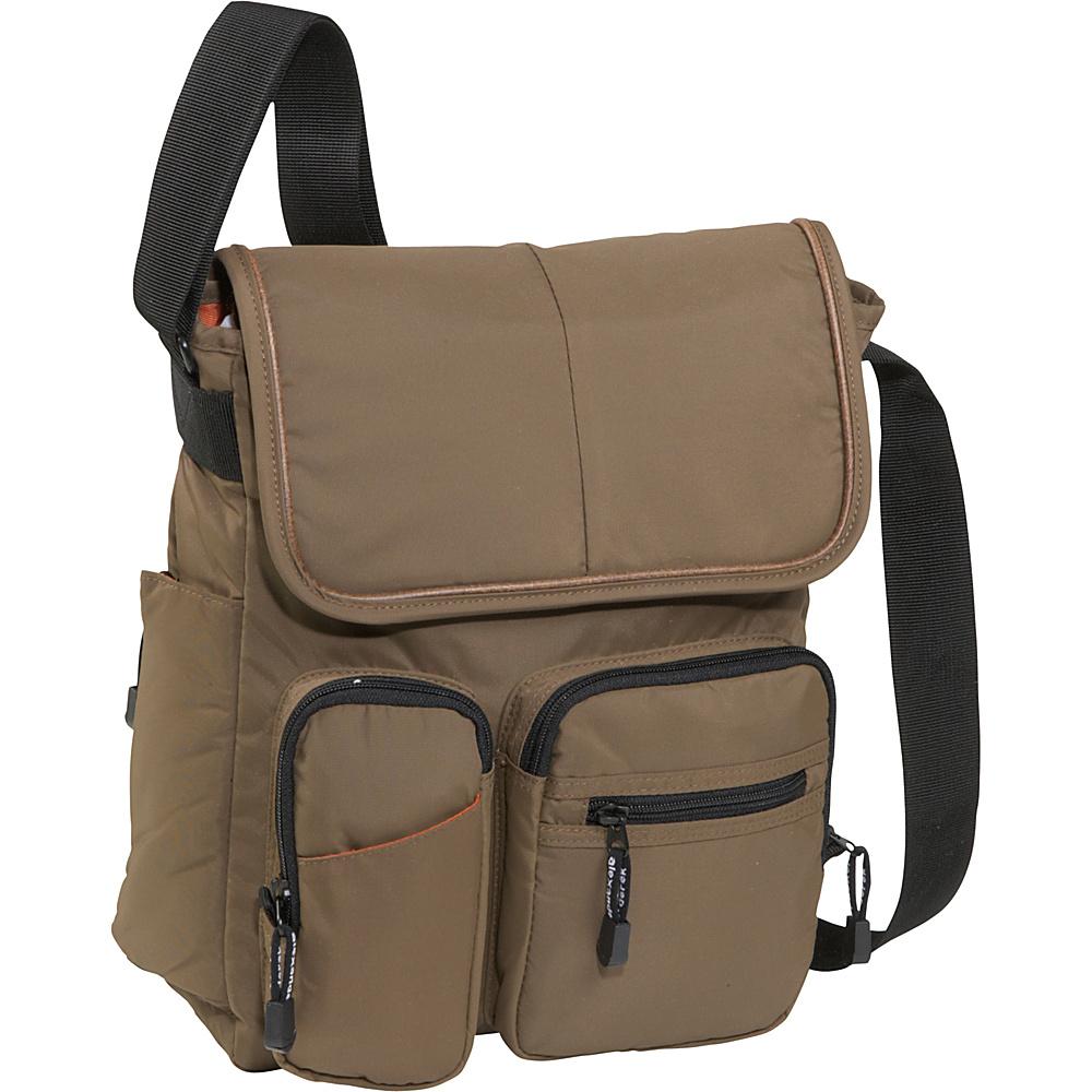 Derek Alexander NS Half Flap - Taupe - Handbags, Manmade Handbags