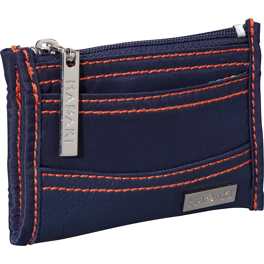 Hadaki Key Purse Navy/Orange - Hadaki Womens Wallets - Women's SLG, Women's Wallets