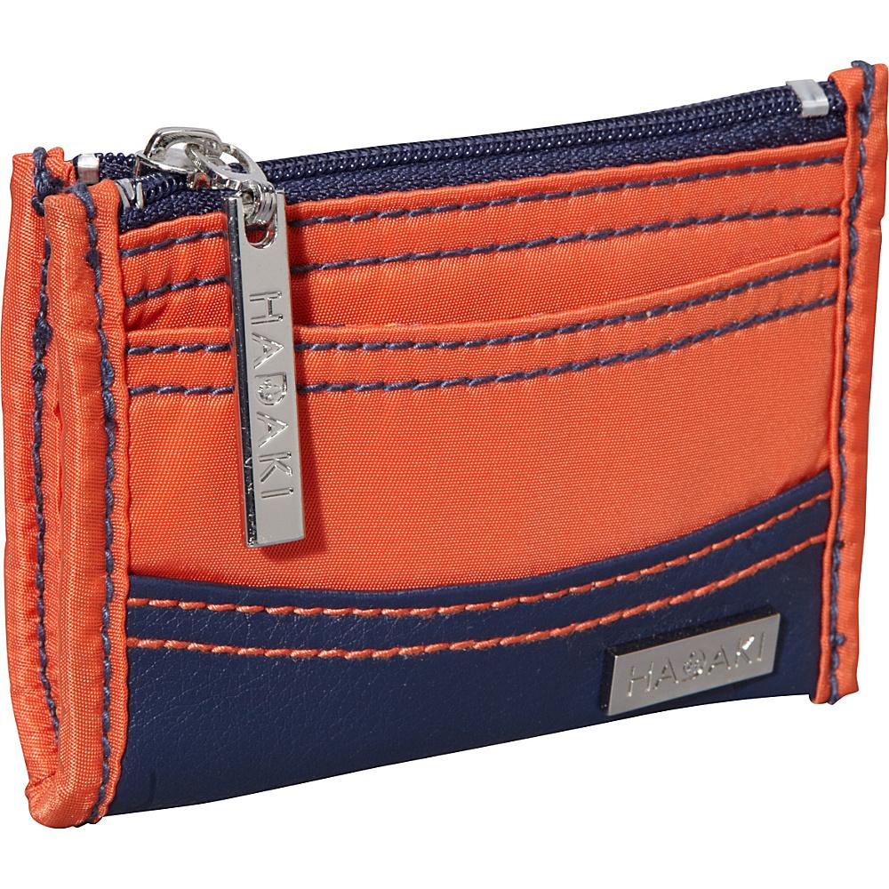 Hadaki Key Purse Orange/Navy - Hadaki Womens Wallets - Women's SLG, Women's Wallets