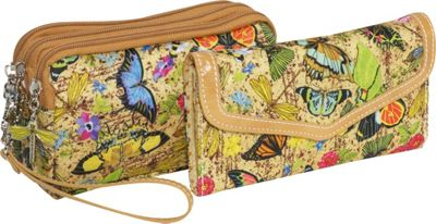3 Zip Wristlet & Wallet Botanical