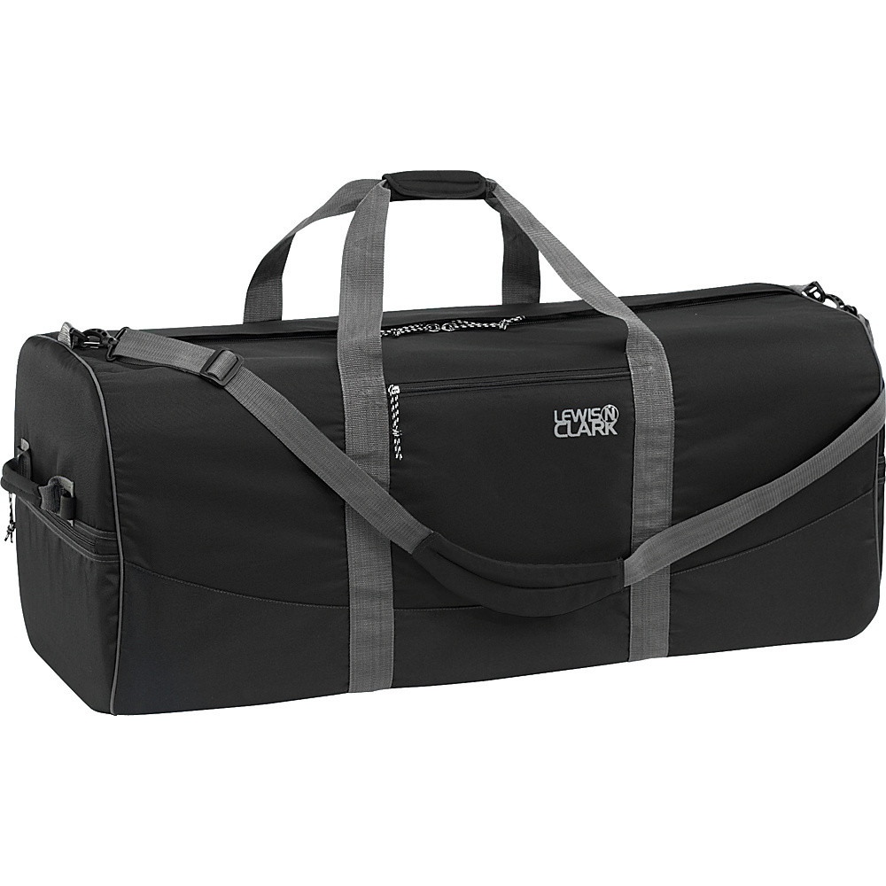 Lewis N. Clark Uncharted Duffel Bag - Large - Black - Luggage, Rolling Duffels