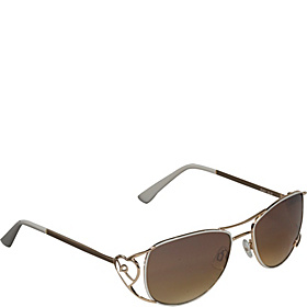 Heart Aviator Sunglasses Gold