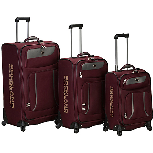 Rockland Luggage 3 Piece Navigator Spinner Luggage Set Burgundy - Rockland Luggage Luggage Sets