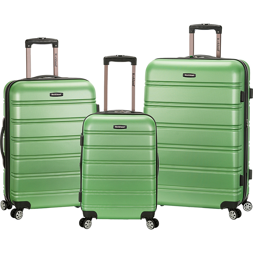 Rockland Luggage 3 Piece Melbourne Hardside Spinner Set Green Rockland Luggage Luggage Sets