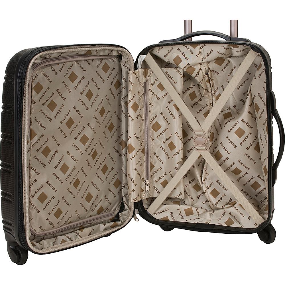 Rockland Luggage Melbourne 3-Piece Hardside Spinner Luggage Set Champagne - Rockland Luggage Luggage Sets