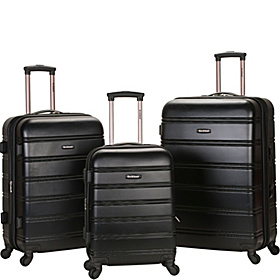 3 Piece Carnival Hardside Spinner Set Black
