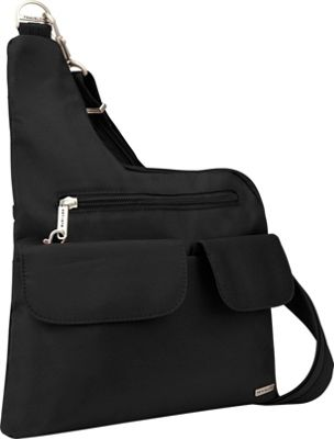 Travelon Cross Body Shoulder Bag Black 42373 48