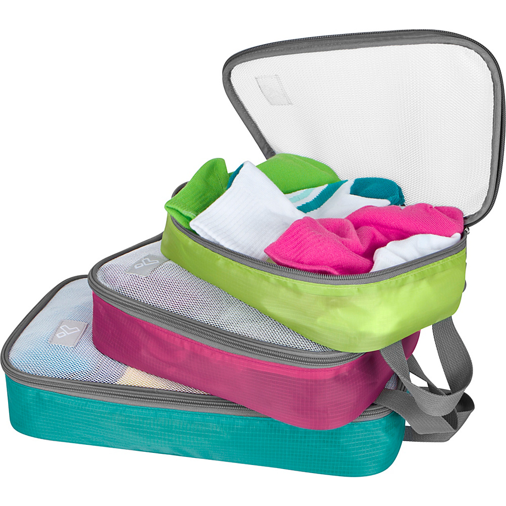 Travelon Lightweight 3-Piece Packing Organizers Brights - Travelon Travel Organizers - Travel Accessories, Travel Organizers