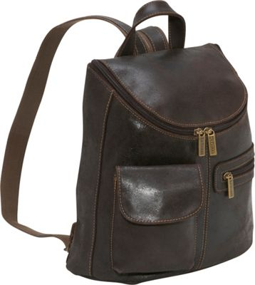 Le Donne Leather Distressed Leather Womens Backpack ...