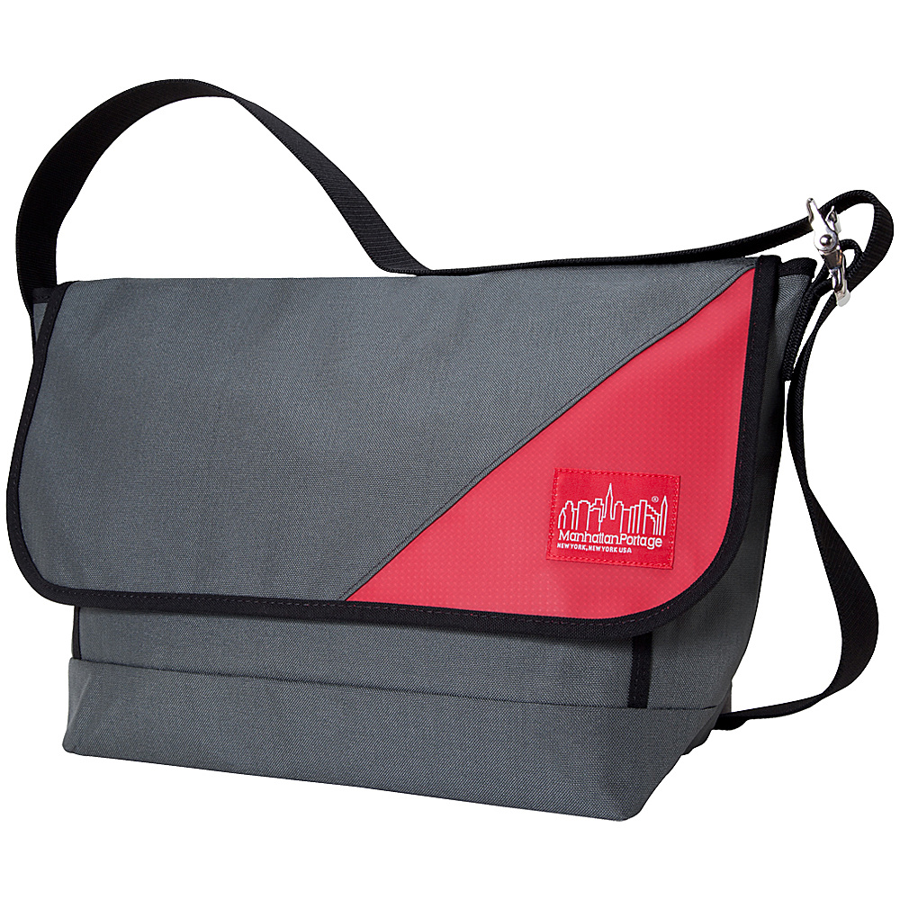 Manhattan Portage Sputnik 2.0 Messenger (LG) - Grey/Red - Work Bags & Briefcases, Messenger Bags