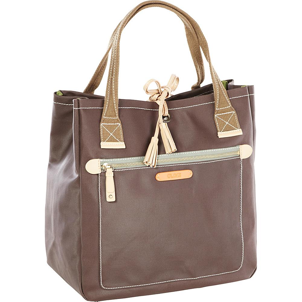 Clava Carina Tassel Tote - Cafe - Handbags, Manmade Handbags