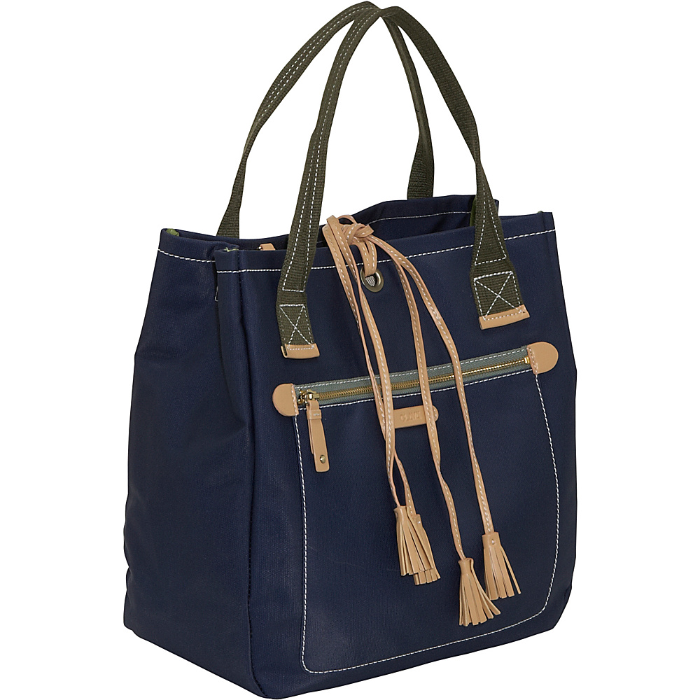Clava Carina Tassel Tote - Indigo - Handbags, Manmade Handbags