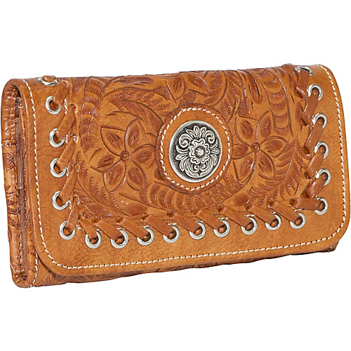 American West Harvest Moon - Tri-Fold Wallet - Antique