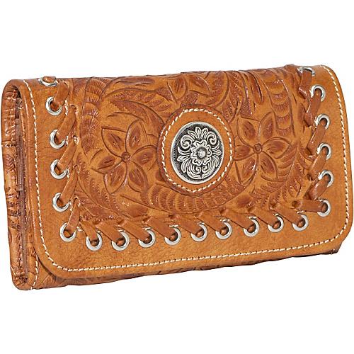 American West Harvest Moon - Tri-Fold Wallet - Antique
