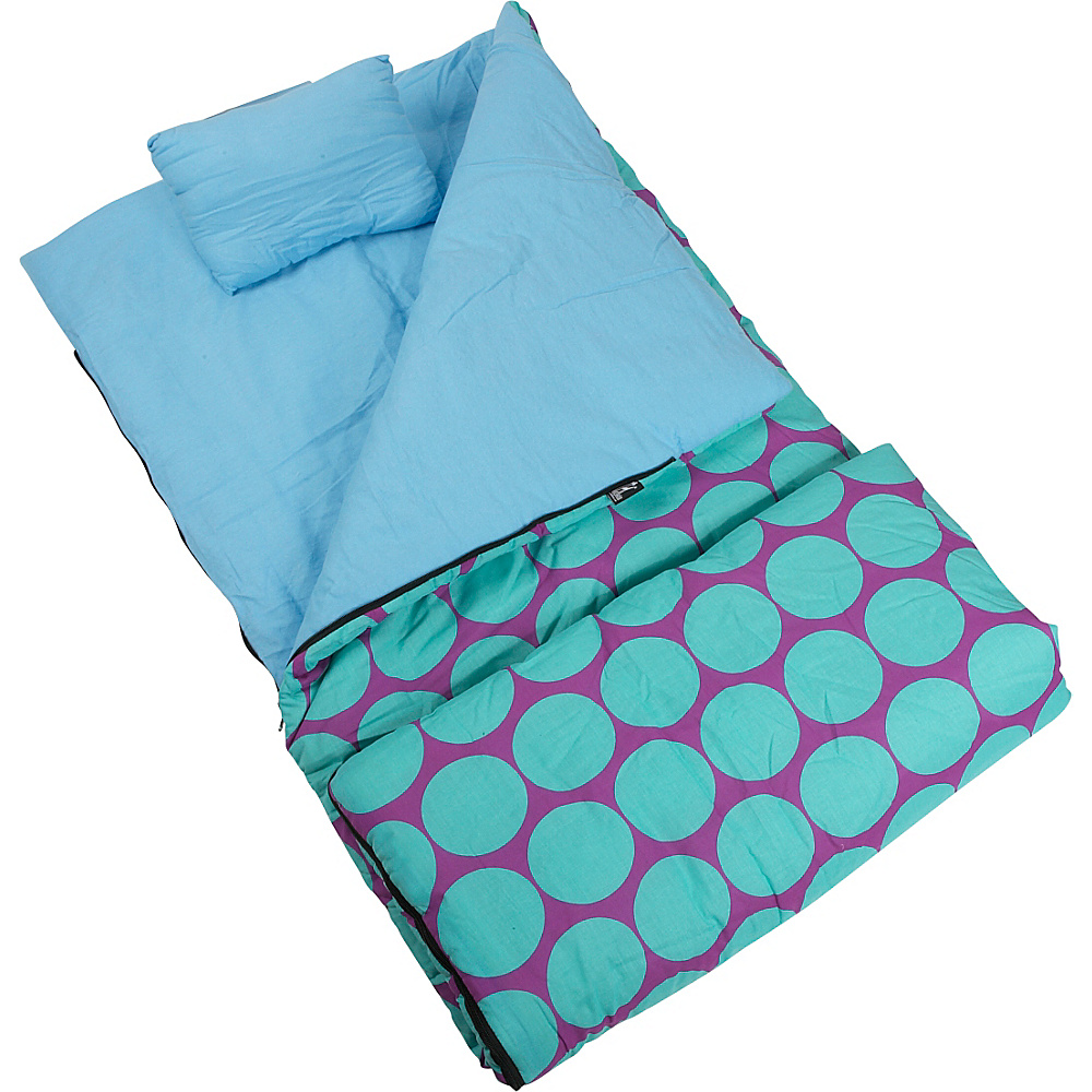 Wildkin Big Dots Aqua Sleeping Bag Big Dots Aqua - Wildkin Travel Pillows & Blankets - Travel Accessories, Travel Pillows & Blankets