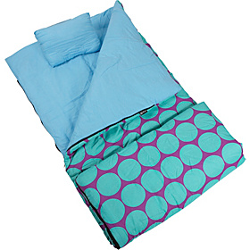 Big Dots Aqua Sleeping Bag Big Dots Aqua