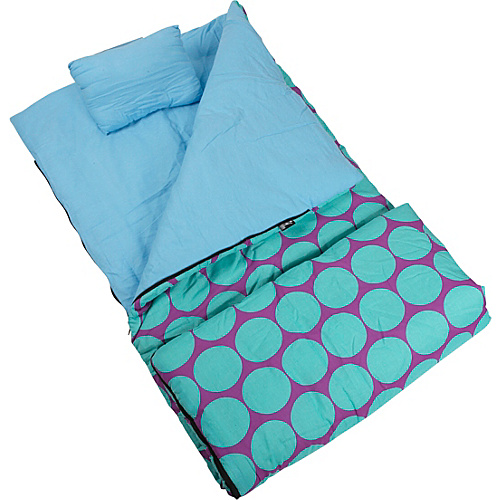 Wildkin Big Dots Aqua Sleeping Bag Big Dots Aqua - Wildkin Travel Comfort and Health