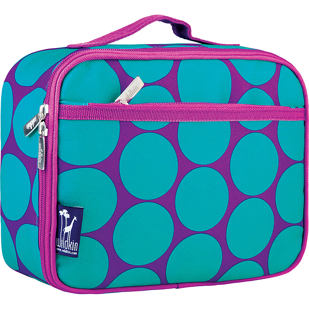 Wildkin Big Dots Aqua Lunch Box - Big Dots Aqua - Travel Accessories, Travel Coolers