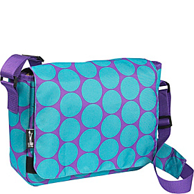 Big Dot Aqua Kickstart Messenger Bag Big Dots Aqua