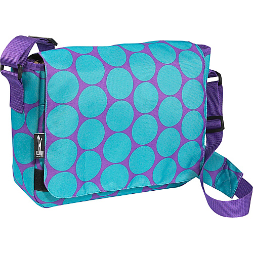Wildkin Big Dot Aqua Kickstart Messenger Bag - Big Dots