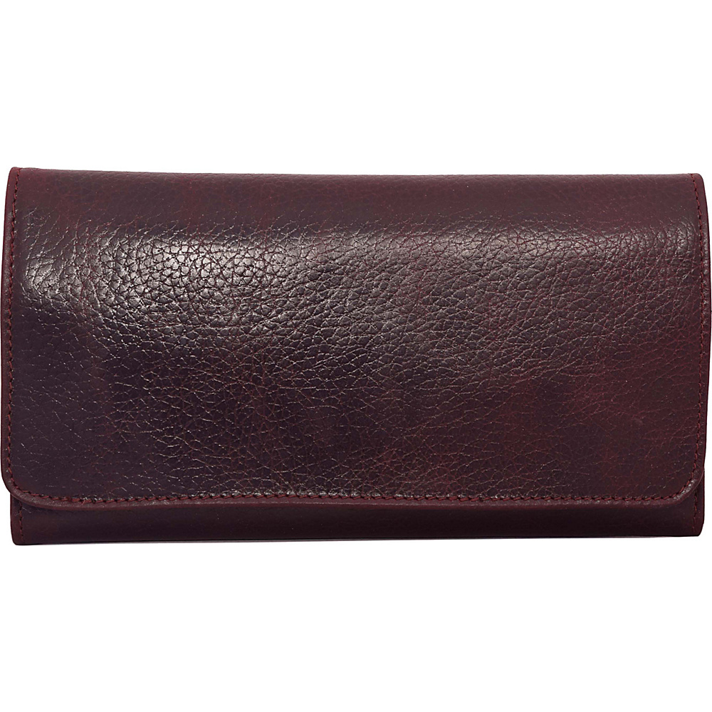 Latico Leathers Shelby Wallet Pebble Burgundy - Latico Leathers Womens Wallets - Women's SLG, Women's Wallets