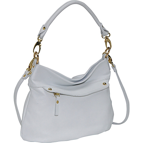 Pietro Alessandro Medium Flap Pocket Tote WHITE - Leather Handbags
