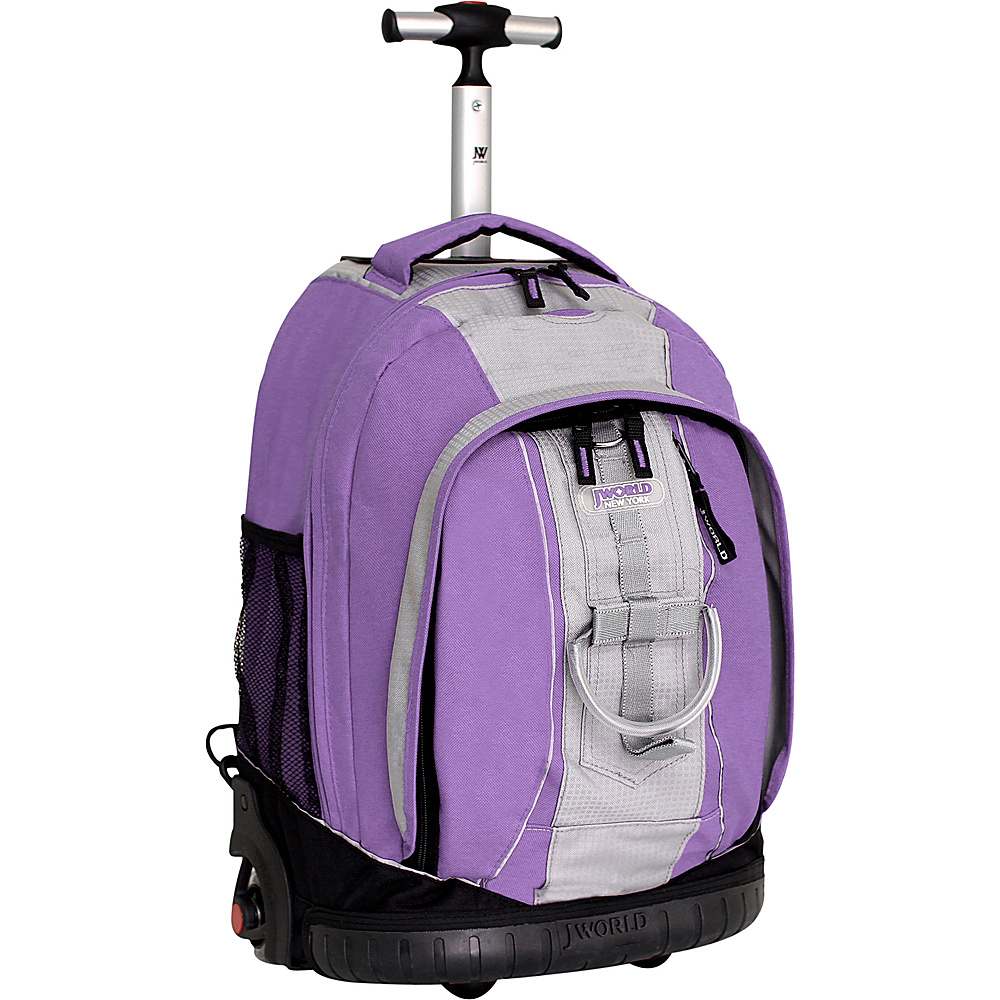 J World Twinkle Rolling Backpack - Lilac/Grey
